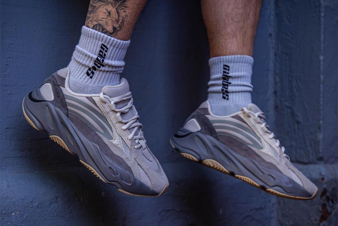 Yeezy Boost 700 Tephra On Foot Lateral Side Shot