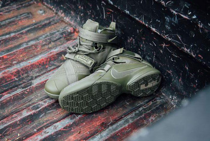 Nike Lebron Zoom Soldie 9 Olive 7
