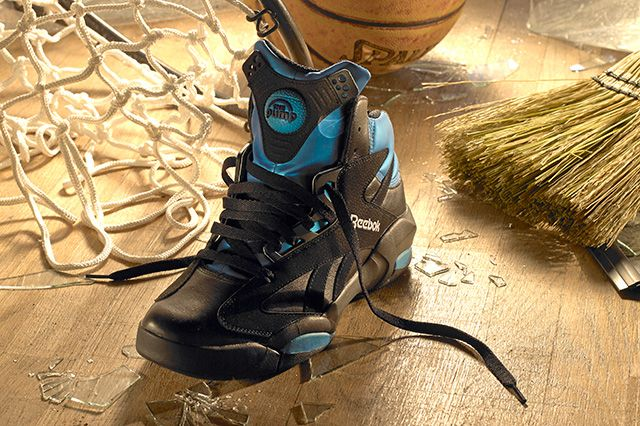 Reebok Shaq Attaq Black Azure Blue