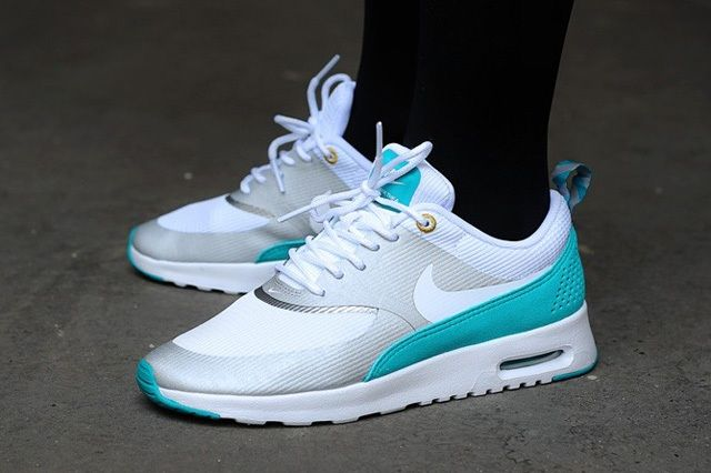 Nike Wmns Air Max Thea Metallic Silver White Tribe Green Thumb