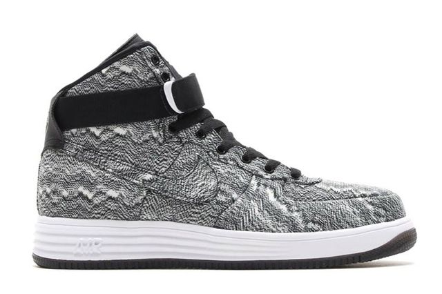 Nike Lunar Force 1 High Dyed Canvas Black White