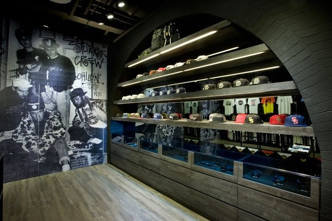 Stussy Singapore Tribe Store Hat Wall 1