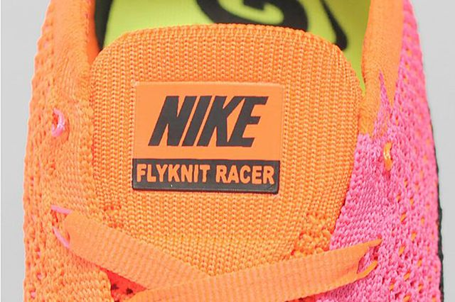 Nike Flyknit Racer Pink Flash Black 1