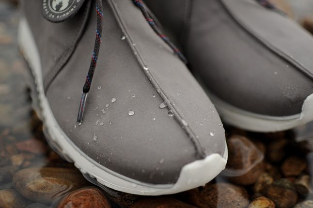 Hanon Clarks Traxter Ventile Toe Water Droplets Detail 1