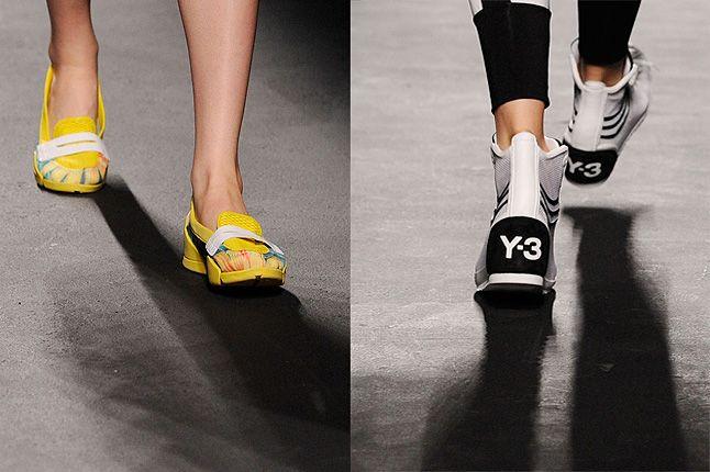 Y3 Yellow Slipper White Boot 1