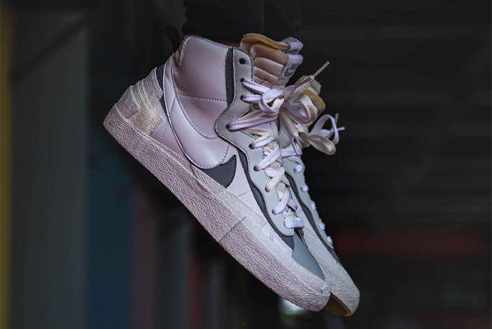 Nike Sacai Blazer Mid Wolf Grey Right 2