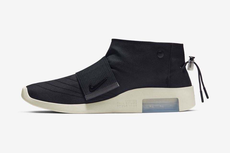 Nike Air Fear Of God Moc Black Fossil At8086 002 Release Date Lateral