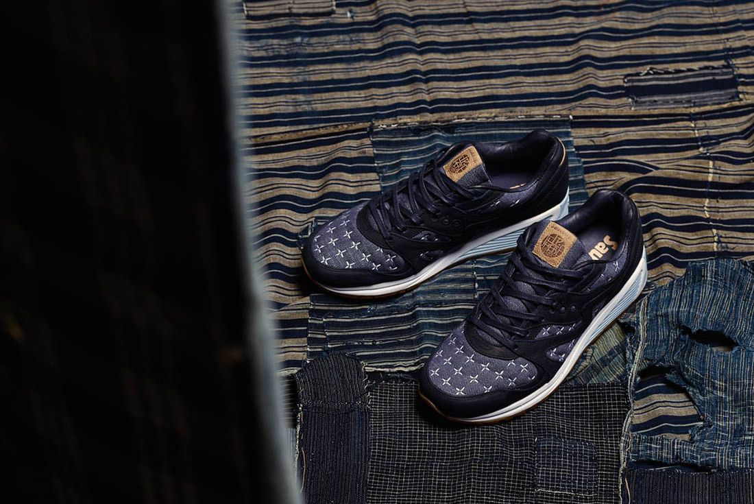 Up There Store Saucony Grid 8000 Sashiko Sneaker Freaker 1