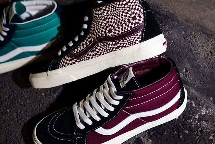 Billys Vans Sk8 Mid Warped Check Pack Release Date Port Royale