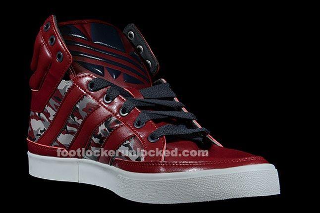 Adidas Top Court Camo Cardinal Angle 1