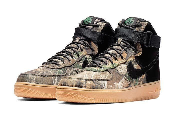 Realtree Black Nike Air Force 1 Pair