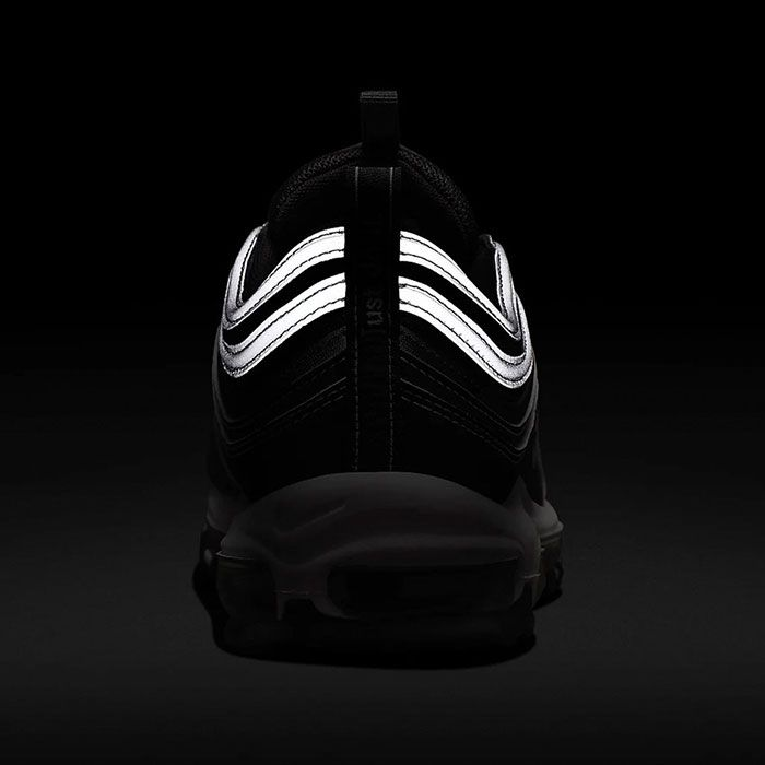 black reflective nike 97