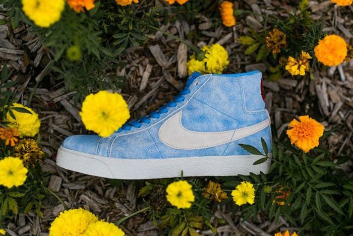 Lance Mountain X Nike Sb Blazer Mid University Blue White Release Date Sneaker Freaker