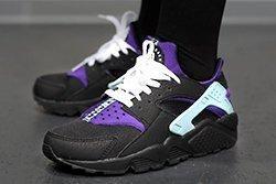 Nike Air Huarache Black Court Purple Thumb