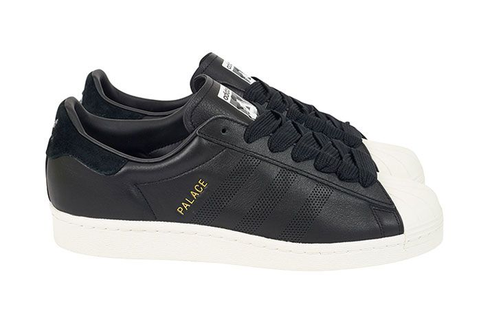 Adidas Palace Superstar Black Lateral Side