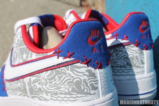 Nike Af1 Puerto Rico Heel Detail Hero 1