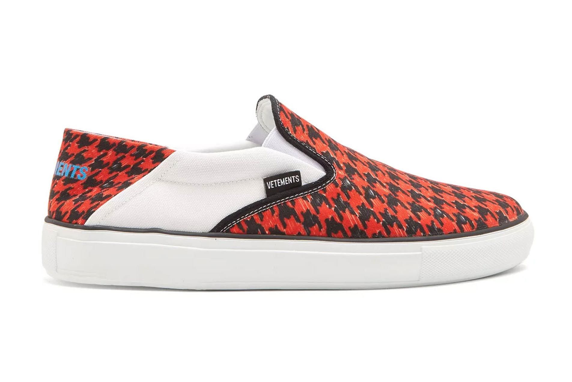 Vetements Houndstooth Slip On Release 2 01 Sneaker Freaker