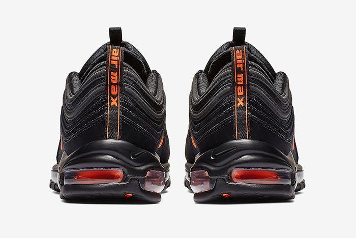 Nike Air Max 97 Black Hyper Crimson Heels