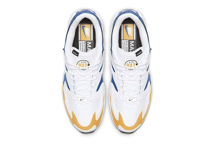 Nike Air Max 2 Light Premium University Gold Game Royal Golden State Warriors Top