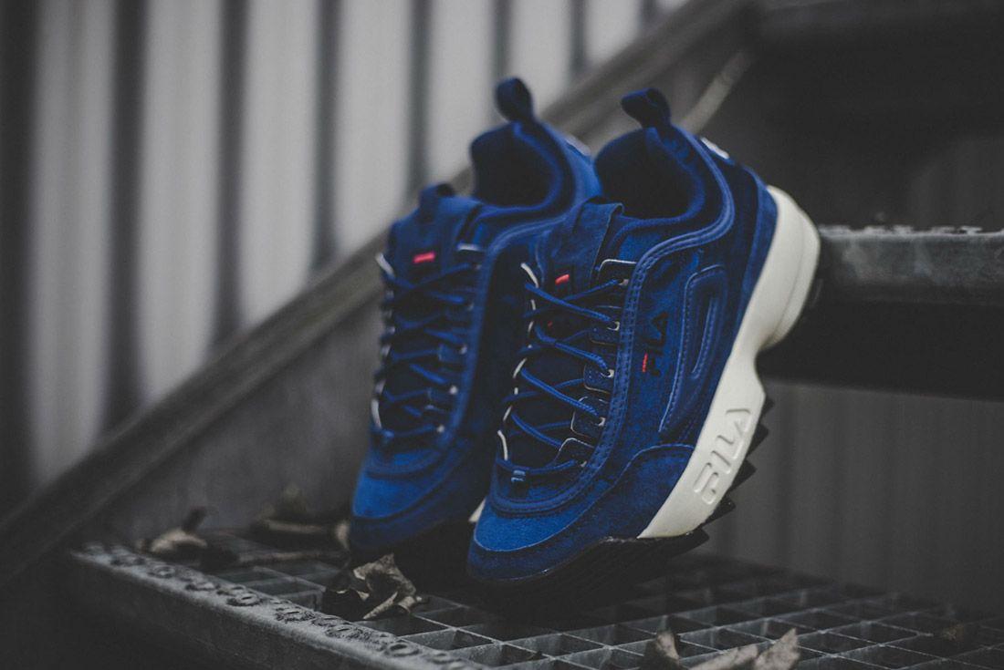 Fila Disruptor V Low Womens Royal Blue Sneaker Freaker 2