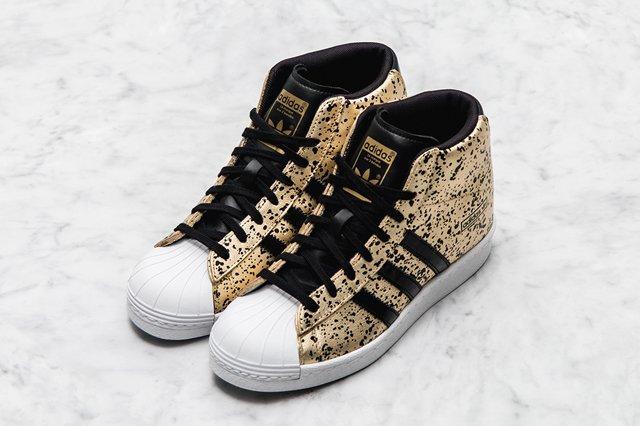 Adidas Superstar Up Wmns Gold Splatter 1