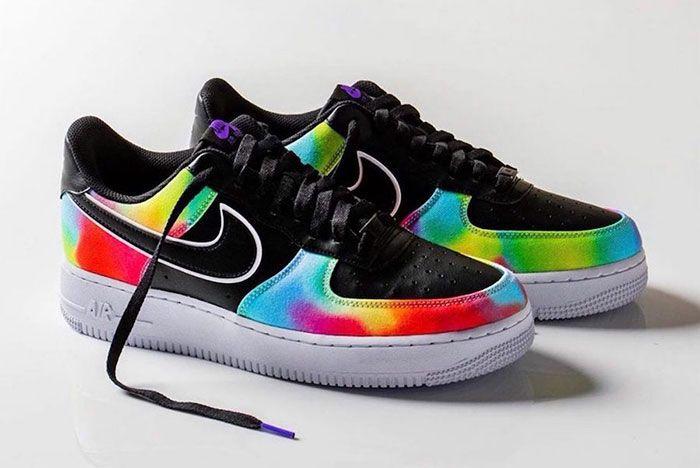 Nike Air Force 1 Low Black Tie Dye Ck0840 001 Release Date Pair Side