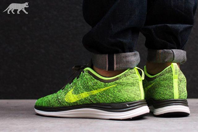 Nike Lunar Flyknit1 Green Tarp Volt