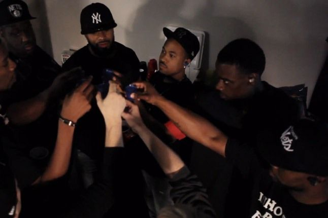 Jay Z Barclays Arena Huddle 1