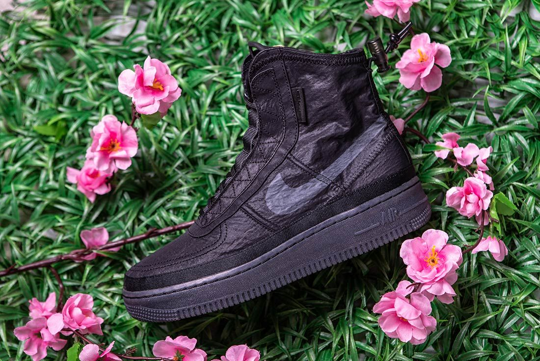 Nike Air Force 1 High Shell Black Left
