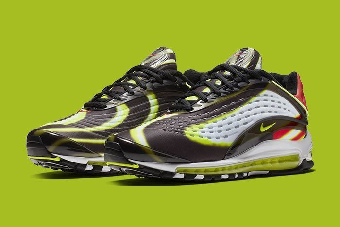Nike Air Max Deluxe Blackvolt Habanero Red White 1