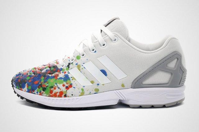 Adidas Zx Flux Splattered Toe 2