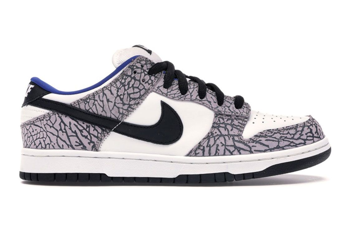 Nike Dunk Sb Low Supreme White Cement 2002 Lateral Side Shot