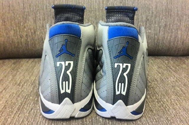 Air Jordan Sport Blue 14 Back