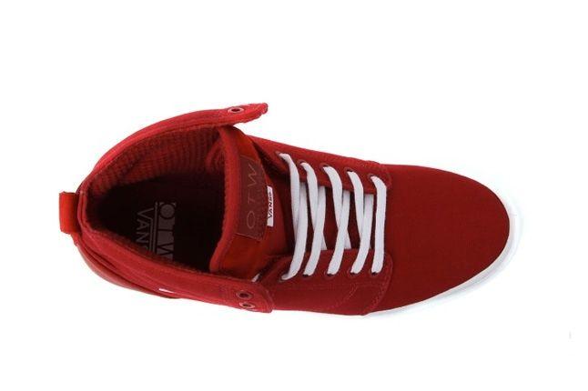 Vans Alomar Red White Aerial 1