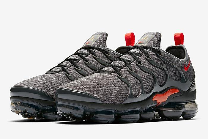 Nike Air Vapormax Plus Red Grey Release 4