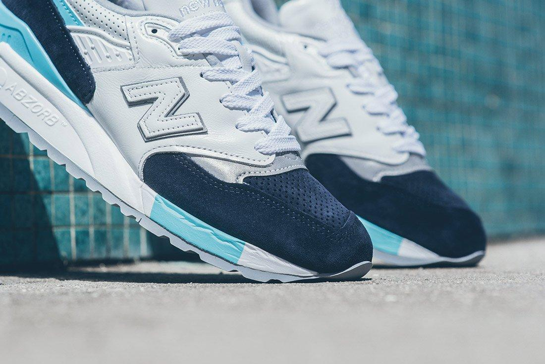 New Balance 998 White Navy Blue 4