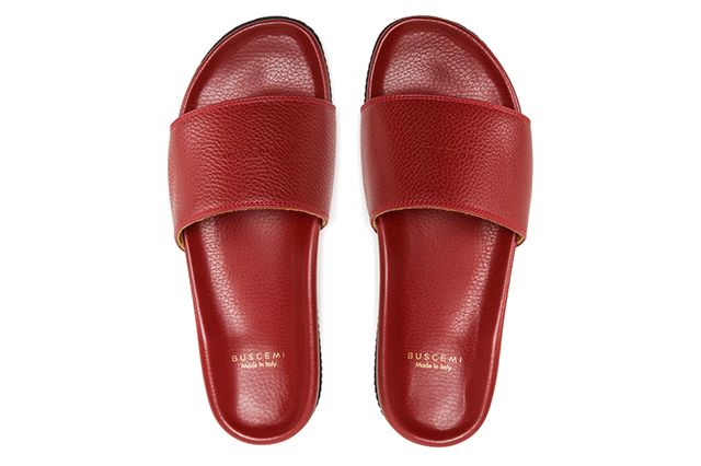Buscemi Calfskin Leather Slides 8