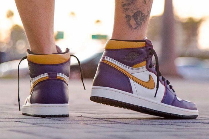 Nike Sb X Air Jordan 1 Lakers Up Close 2