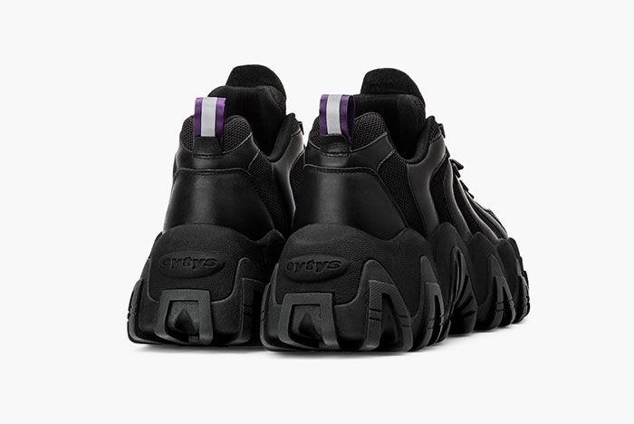 Eytys Halo Sneaker Leather Black Rear Angle
