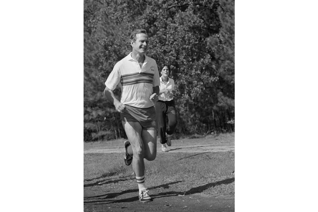 Running For President George H W Nikebettmann Archive