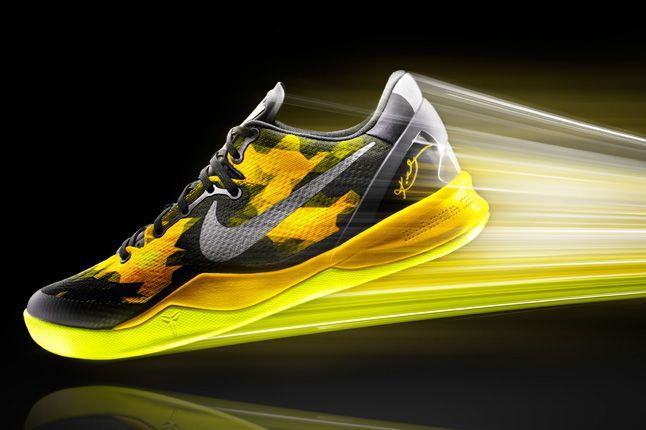 Nike Zoom Kobe 8 Black Yellow 1