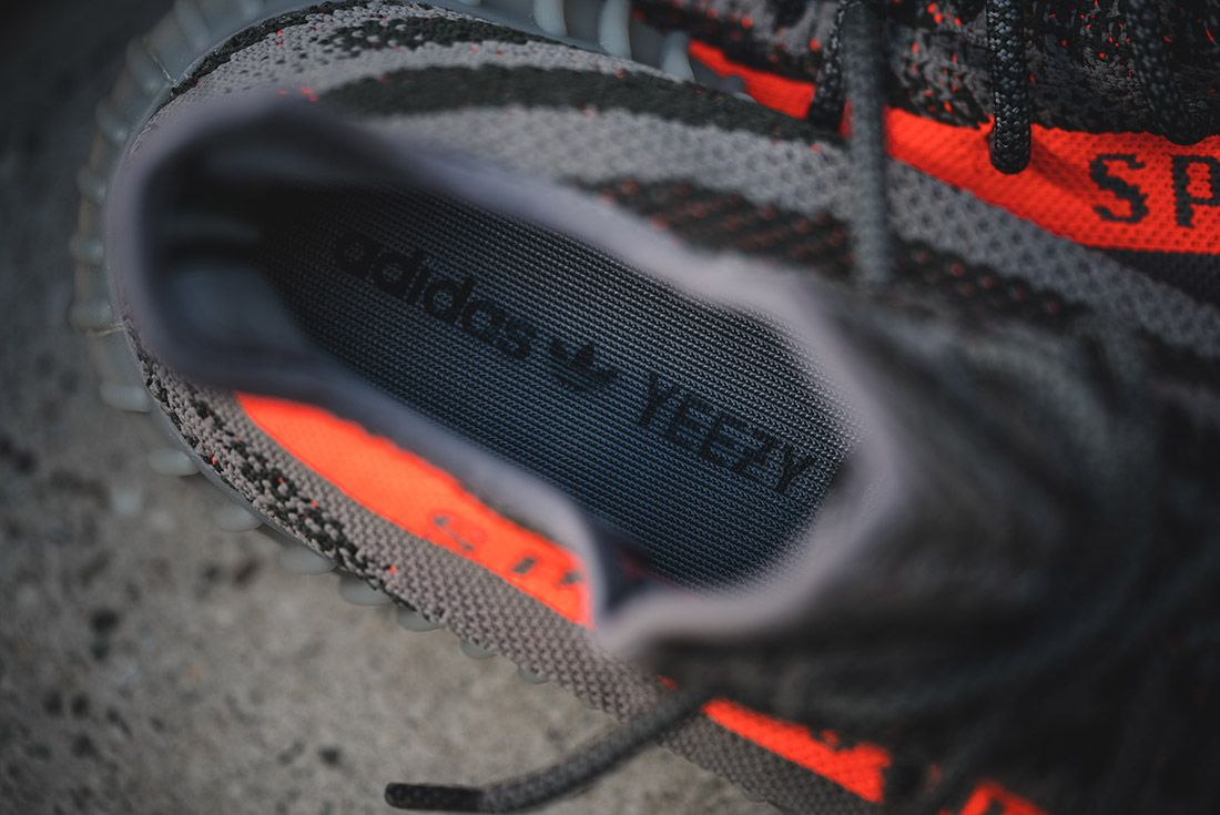 Adidas Yeezy V2 350 Beluga Grey Solar Red 10