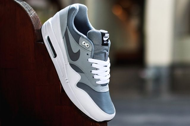 Nike Air Max 1 Leather Cool Grey Wolf Grey 3