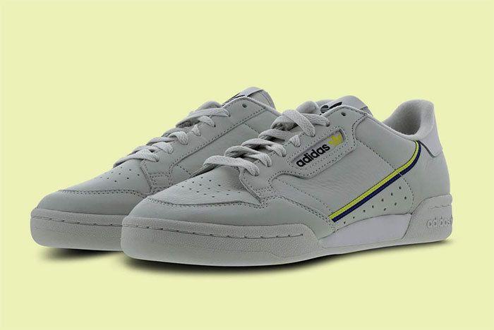 Adidas Continental 80 Grey Yellow 1