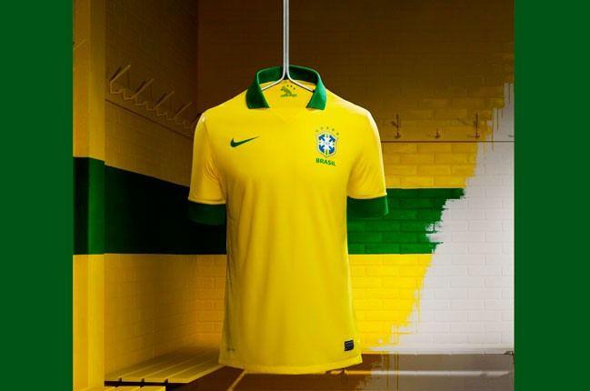 Nike Football Brazil Home Jersey On Rack 1
