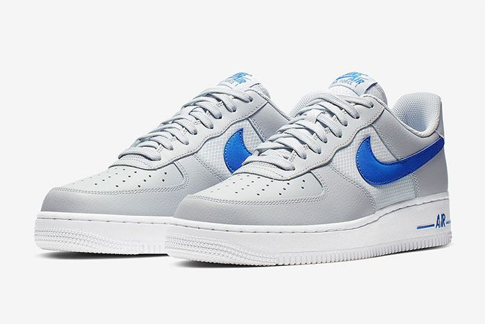 Nike Air Force 1 Low Grey Blue Quarter