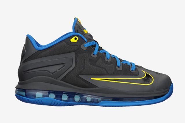 Nike Le Bron 11 Low Gs Dark Grey Photo Blue 1