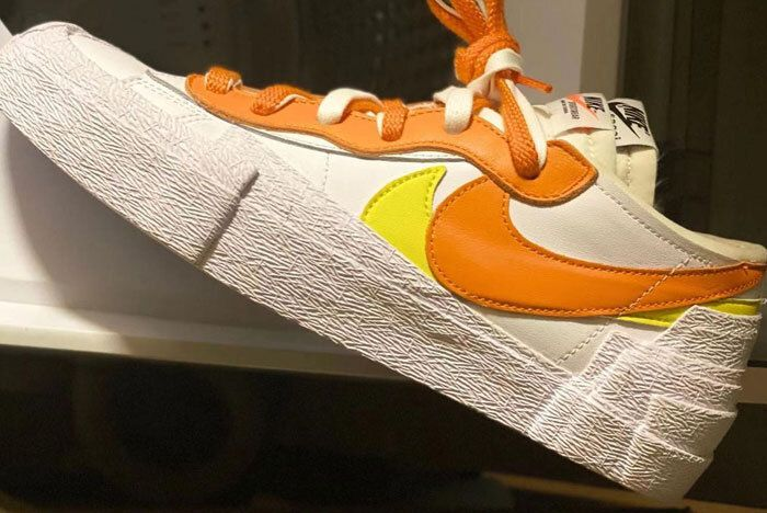 sacai nike blazer low orange