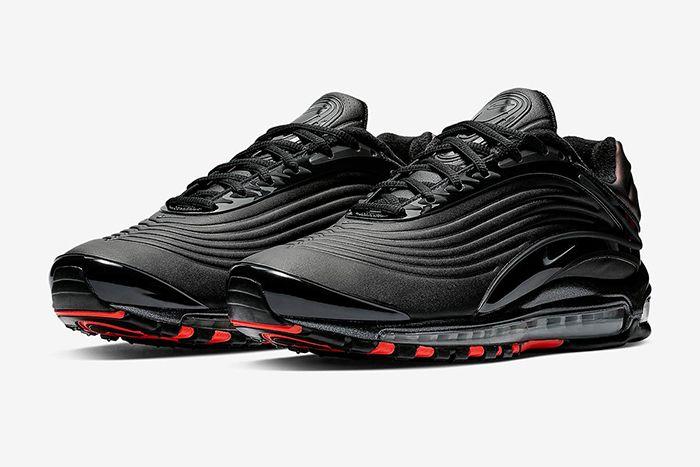 Nike Air Max Deluxe Se Black Anthracite Bright Crimson 1