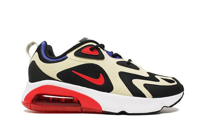 Nike Air Max 200 Team Gold University Red Aq2568 700 Lateral